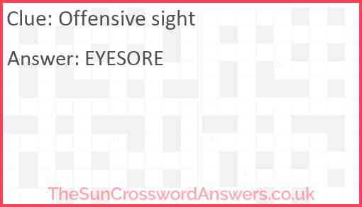 Offensive sight Answer