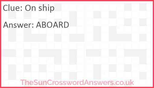 On ship Answer