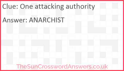 One attacking authority Answer