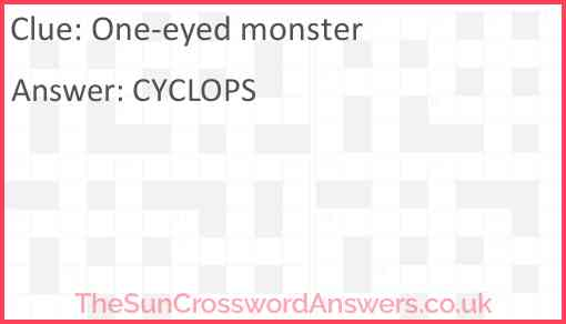 One-eyed monster Answer