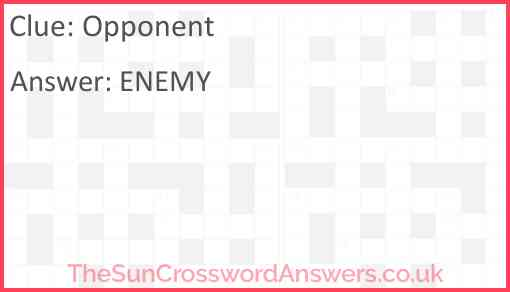 Opponent Answer