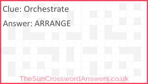 Orchestrate Answer
