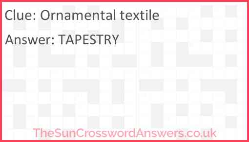 Ornamental textile Answer