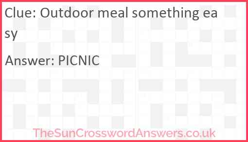 Outdoor meal something easy Answer