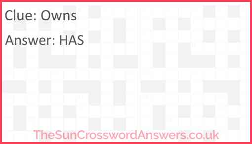 Owns Answer