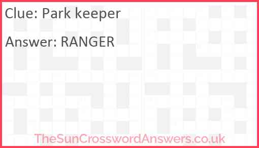 Park keeper Answer