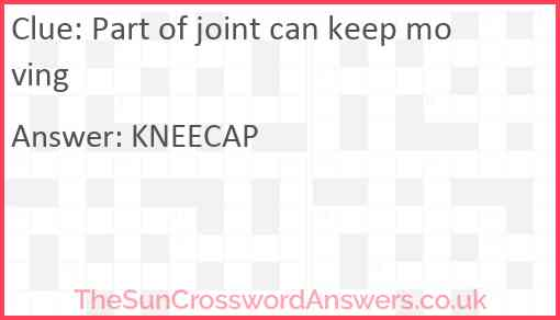 Part of joint can keep moving Answer