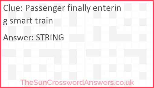 Passenger finally entering smart train Answer
