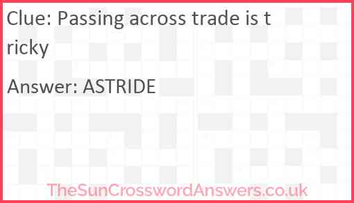 Passing across trade is tricky Answer