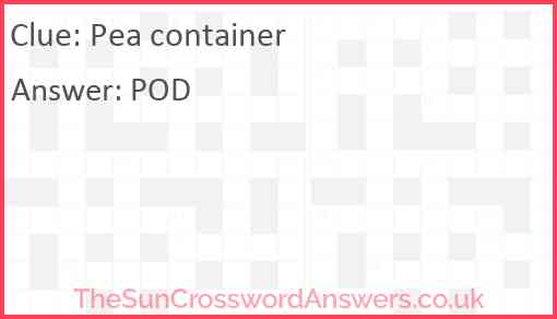 Pea container Answer