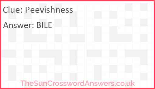 Peevishness Answer