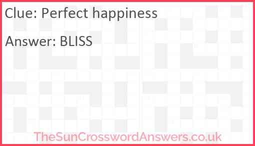 Perfect happiness Answer