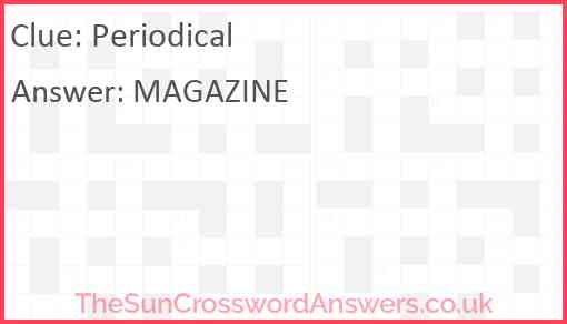 Periodical Answer