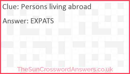Persons living abroad Answer