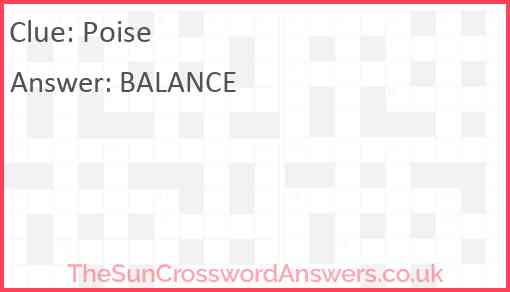 Poise Answer