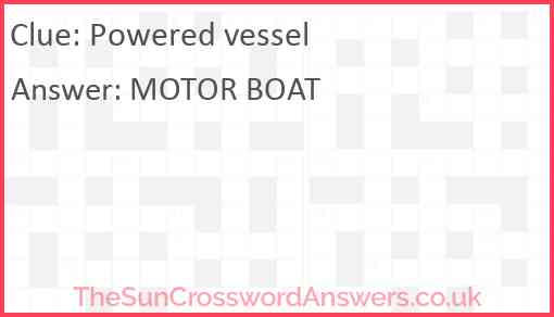Powered vessel Answer