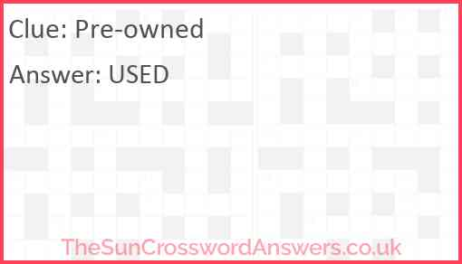 Pre-owned Answer