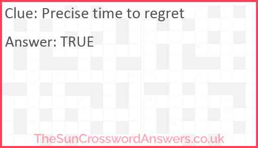 Precise time to regret Answer