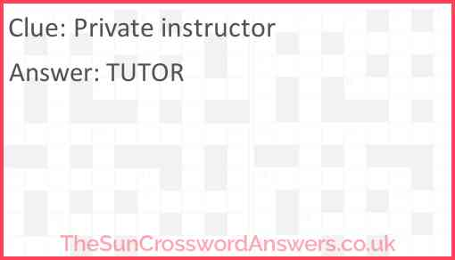 Private instructor Answer