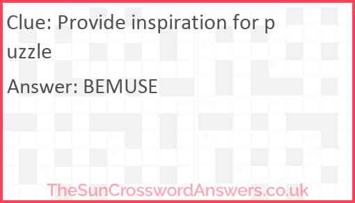Provide inspiration for puzzle Answer