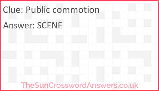 Public commotion Answer