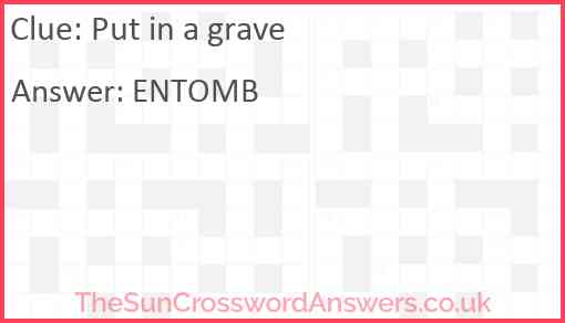 Put in a grave Answer