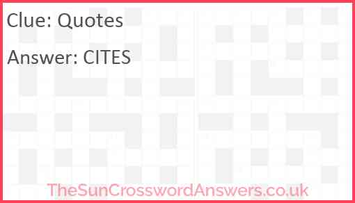 Quotes Answer