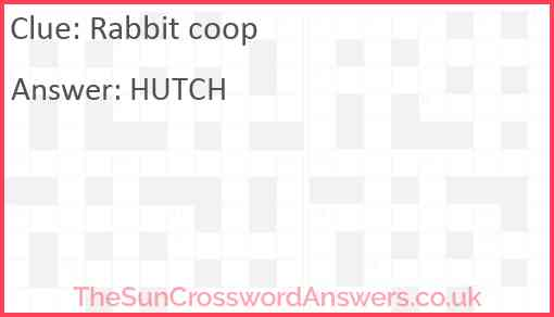 Rabbit coop Answer
