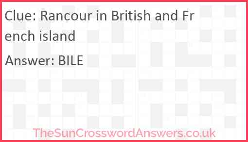 Rancour in British and French island Answer