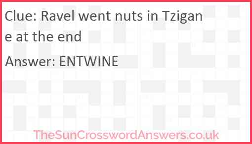 Ravel went nuts in Tzigane at the end Answer