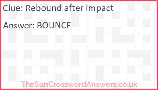 Rebound after impact Answer