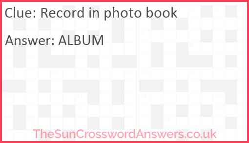 Record in photo book Answer