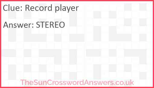 Record player Answer