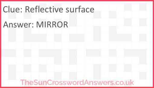 Reflective surface Answer