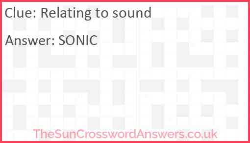 Relating to sound Answer
