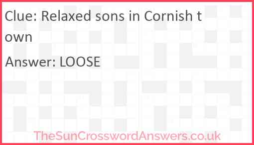 Relaxed sons in Cornish town Answer
