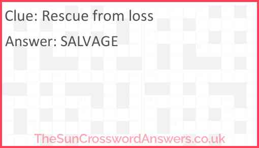 Rescue from loss Answer