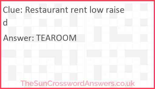 Restaurant rent low raised Answer