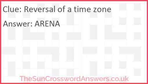 Reversal of a time zone Answer