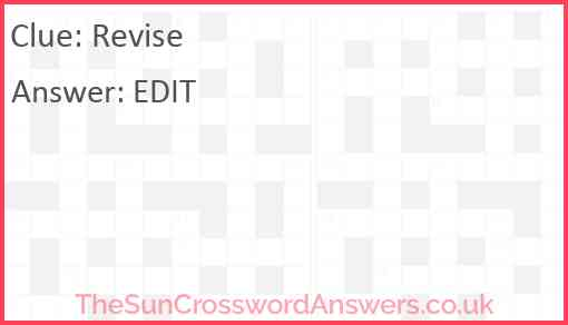 Revise Answer