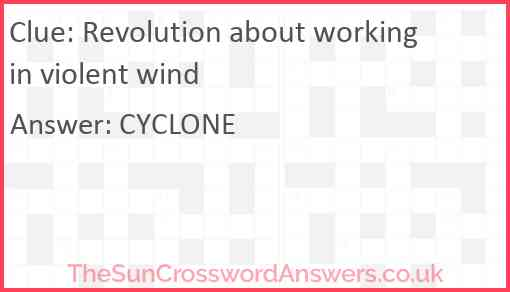 Revolution about working in violent wind Answer