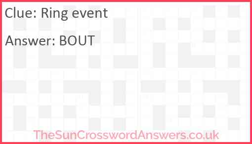 Ring event Answer