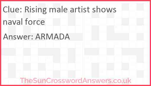 Rising male artist shows naval force Answer