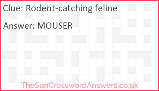 Rodent-catching feline Answer
