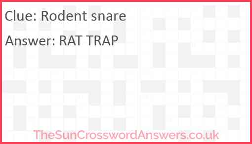 Rodent snare Answer