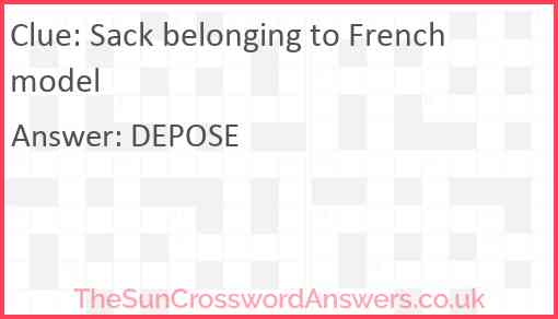 Sack belonging to French model Answer