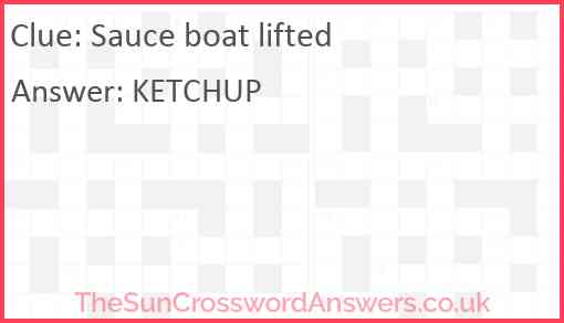 Sauce boat lifted Answer