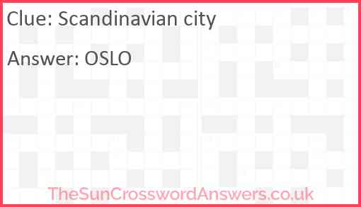 Scandinavian city Answer