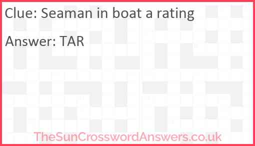 Seaman in boat a rating Answer