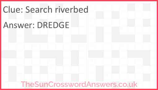 Search riverbed Answer